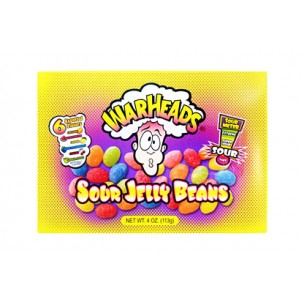Warheads Jelly Beans-Theater Box (113 grams)